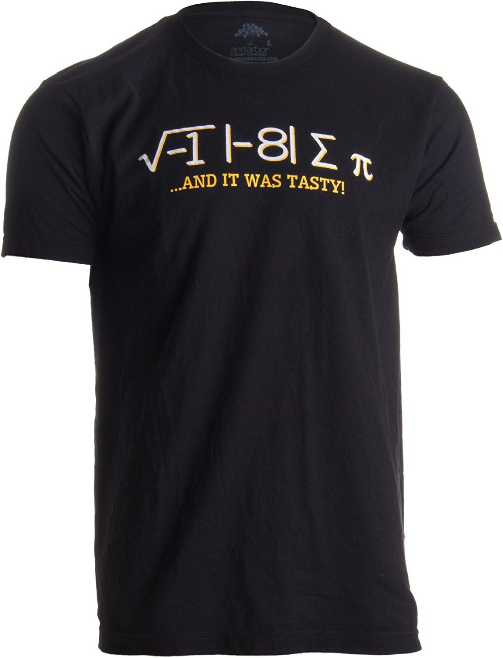 2018 New short-sleeved round collar I Ate Some Pi, and it was Tasty  Funny Delicious Math Teacher Humor Pun T-shirt 100% Cotto