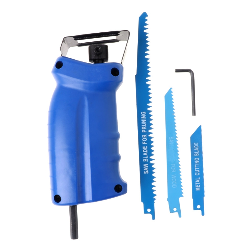 Reciprocating Saw Attachment For Wood Metal Cutting Trimming Tool with 3 Blades milda reciprocating saw electric drill attachment new power tool accessories metal cutting wood cutting tool have 3 blades