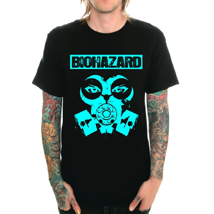Mens Fashion T-Shirt Biohazard Billy Graziadei Punk Rock Short Sleeve T Shirts Casual Summer Dress Printed Tops ...