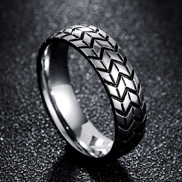 New Vintage Stainless Steel Ring The Men S Tire Veins One Ring
