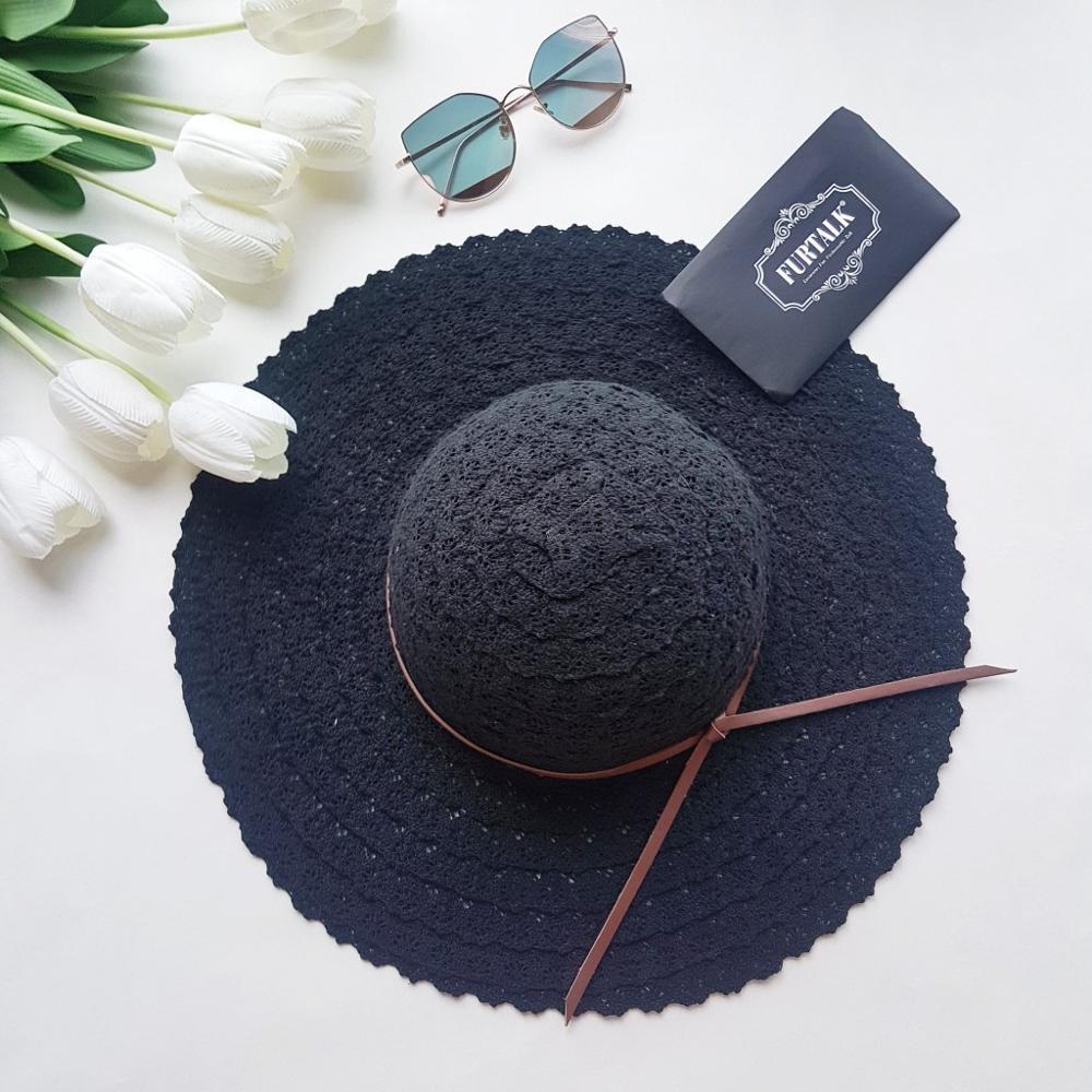 Вязаная крючком солнечная шляпка с Алиэкспресс
