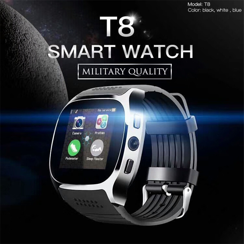 Smart Watch with 2G Sim Card Video Music Bluetooth GSM IOS Android Smartphone for Men Women Running Wristwatch Clock
