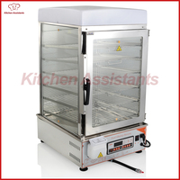 KA600S Counter top Commercial Computer Control panel electric stainless steel glass commerical bun steamer hot dog food steamer