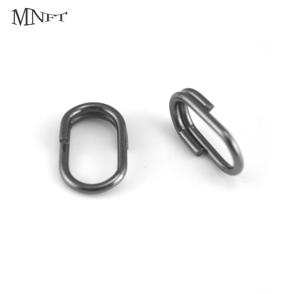 MNFT 20Pcs Fishing Oval Split Ring Stainless Steel Snap Lure Tackle Connector Size 10MM,13MM,15MM Swivel Fishing Accessories