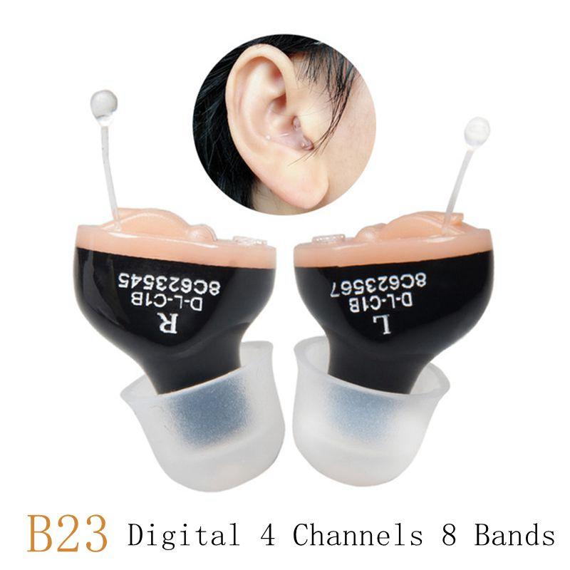 orelha portátil invisível aparelhos auditivos a10 bateria