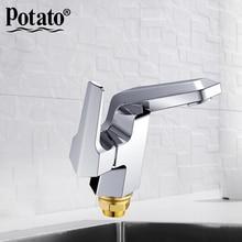Кран для раковины для ванной комнаты с одной ручкой, кухонный кран, смеситель для раковины с горячей и холодной водой, современный p1040