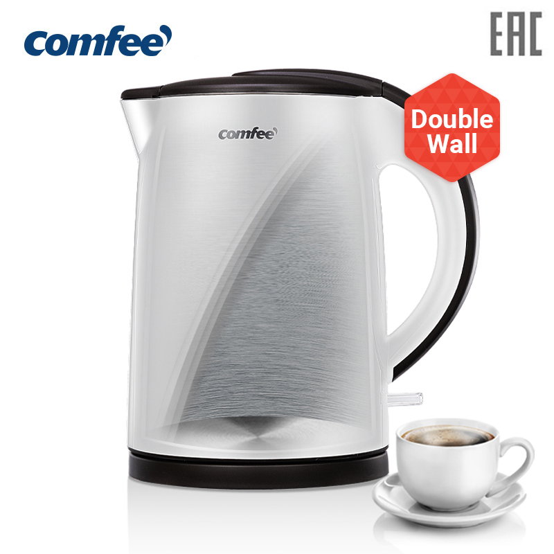 Electric stainless steel Kettle double wall  kettle teapot thermos whistling kettle thermos kettle samovar midea comfee CF-KT707 electric kettle insulation full stainless steel double electric