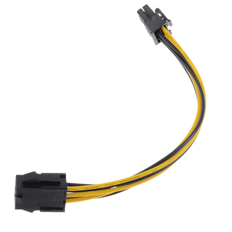 20cm Mini 2 IDE Dual 6 Pin IDE Male to 6 Pin Female PCI-e PCIe Power Cable Adapter Connector for Apple Pro Video Card