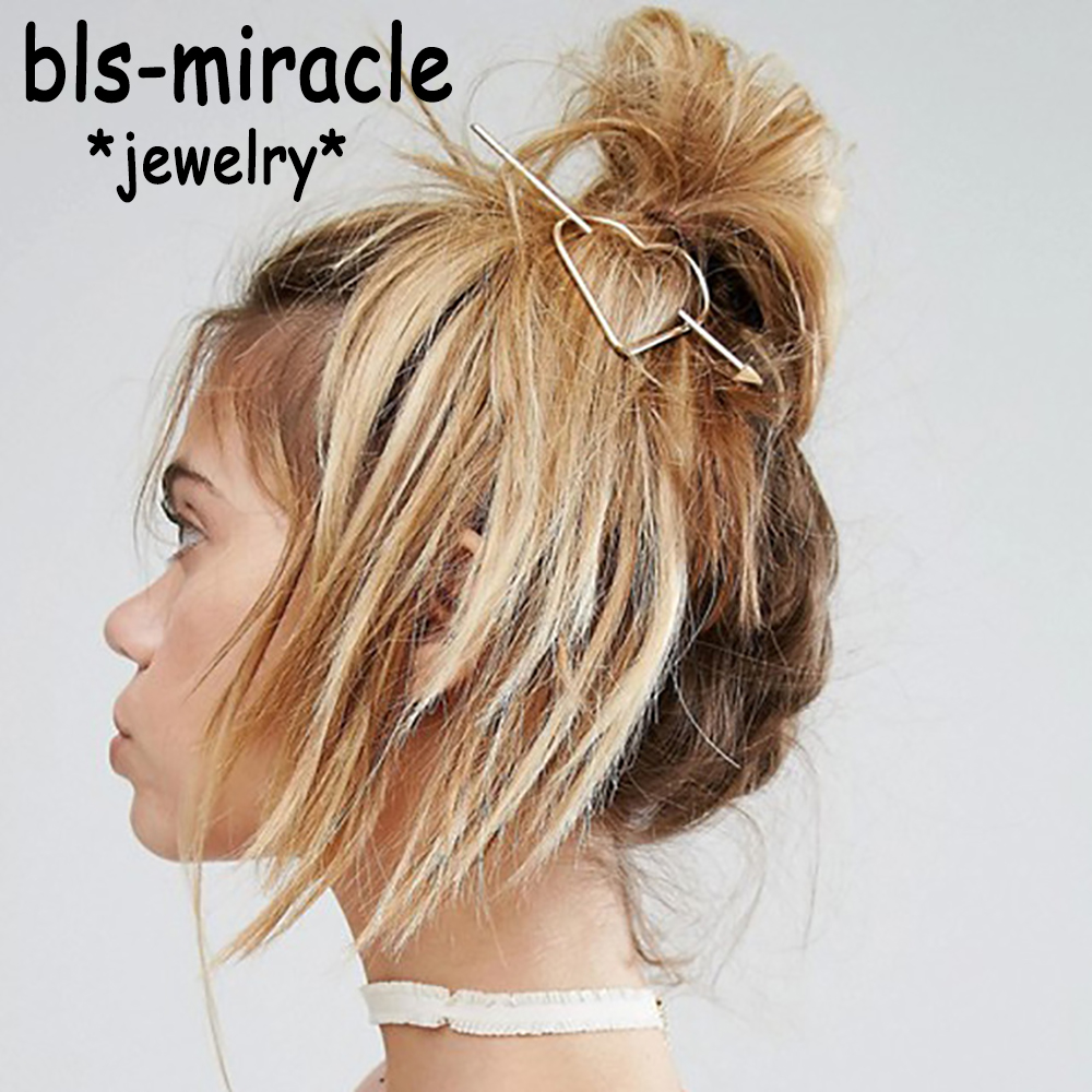 Bls-mirakel Nyeste Hair Bohemia Hårnål Hollow Lovely Heart Hairwear Hair Beste kvinner Party Girl Tilbehør engros HA-117