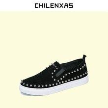 CHILENXAS 2017 Summer Genuine Leather Men font b Casual b font font b Shoes b font