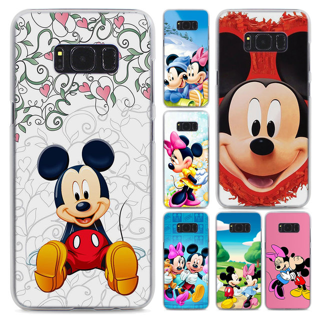 Cute Mickey Minnie Mouse Style Transparent Frame Hard Case Cover For