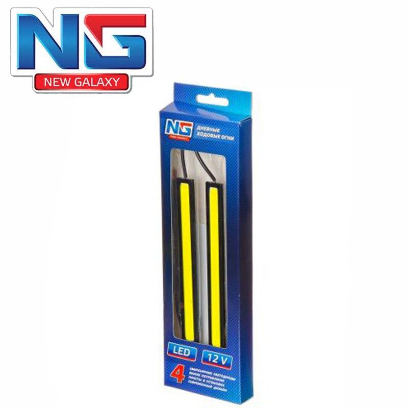 Feux diurnes NOUVEAU GALAXY LED 20 pcs boîtier métallique 142mm 12 V blanc couteaux haute qualité remise ventes jack machine 702-003