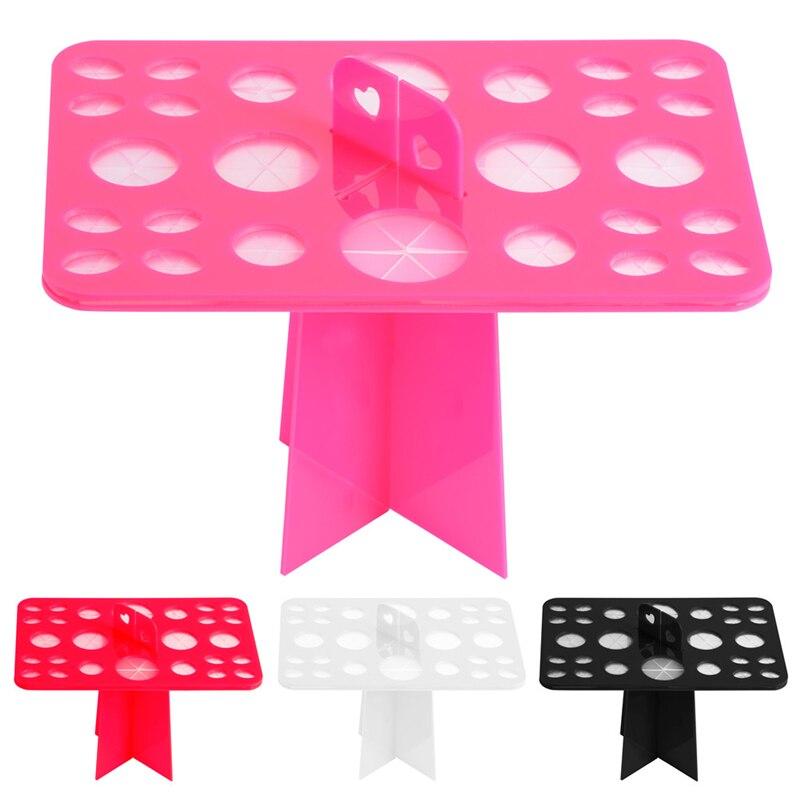 Make Up Brush Drying Rack Mermaid Brush Holder Stand Makeup Organizer Display Table Comestic Storage Tool 26 Holes