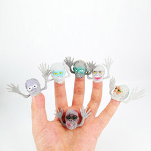 Funny!! Novel PVC Ghost Finger Puppet For Telling Stories Halloween Funny Toy Action Figure Toy For Children Gift