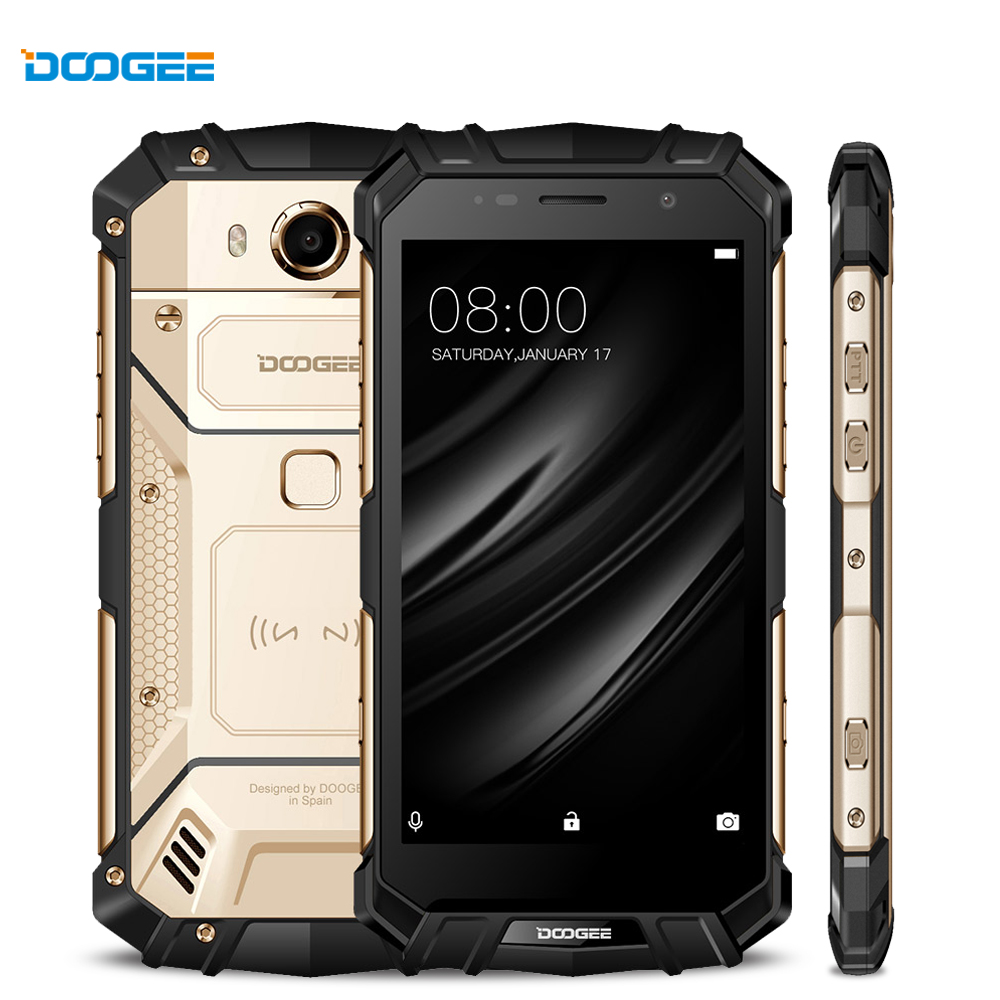 DOOGEE S60 Real IP68 Waterpoof Smartphone Wireless Charge 12V2A Quick Charge Octa Core 6GB 64GB Smartphone 21.0MP Camera Phone