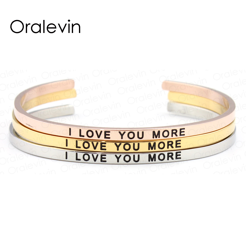 Stainless Steel Engraved Positive Inspirational WARRIOR Bangle Bracelet Gold for women (3 Colors available) #LB858
