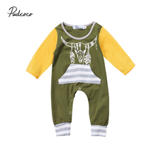 pudcoco Newest Arrivals Hot Infant Newborn Toddler Baby Boys Girls Floral Long Sleeve Casual Romper Jumpsuit Outfits Set Clothes
