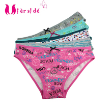 Girl's Underwear Panties Cotton Briefs Spandex M Mierside Teenagers Kid's Popular