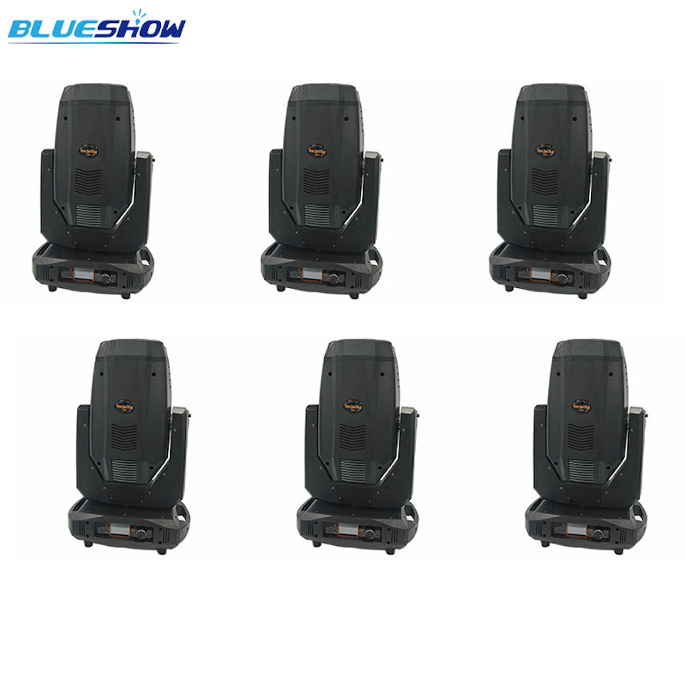 No tax custom, 6pcs/lot Stage Disco LED Sharpy 17r  350w Moving Head Beam Spot Wash 3in1 Light Stage DMX512 DJ Party