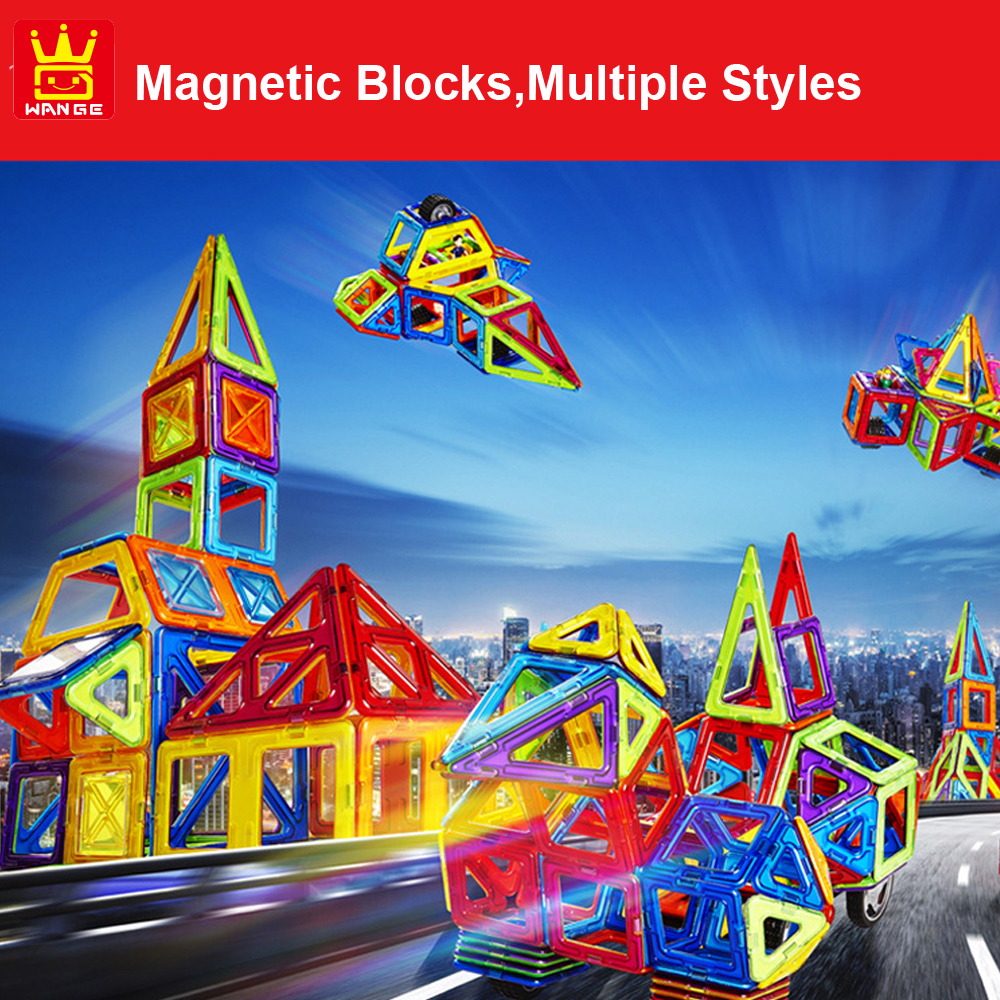 20-166pcs Big Size Multiple Design Construction Set DIY Magnetic Blocks Educational Toys For Kids Gift cheerlink zm 81 3mm neodymium iron diy educational toys set silver 81 pcs