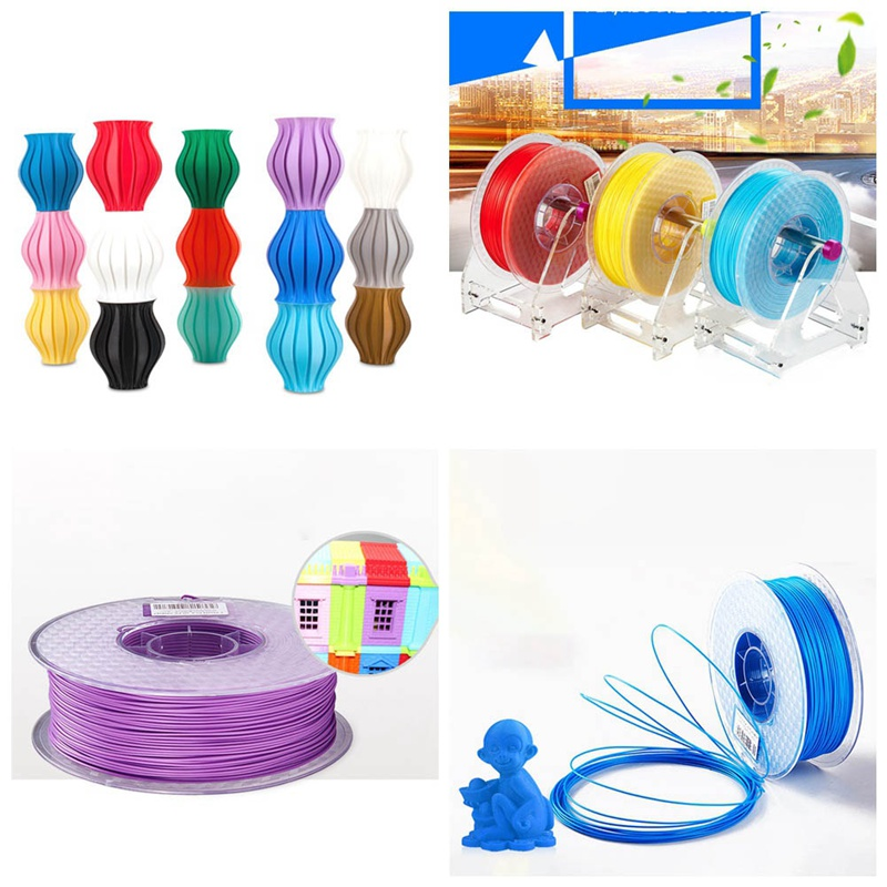 3d Printer Filament Pla 1.75mm 1kg Plastic Rubber Consumables Material 10 Kinds Colours For You Choose rq wooden 3d printer filament pla 1 75mm 3d wood printing materials 1kg plastic rubber consumables material