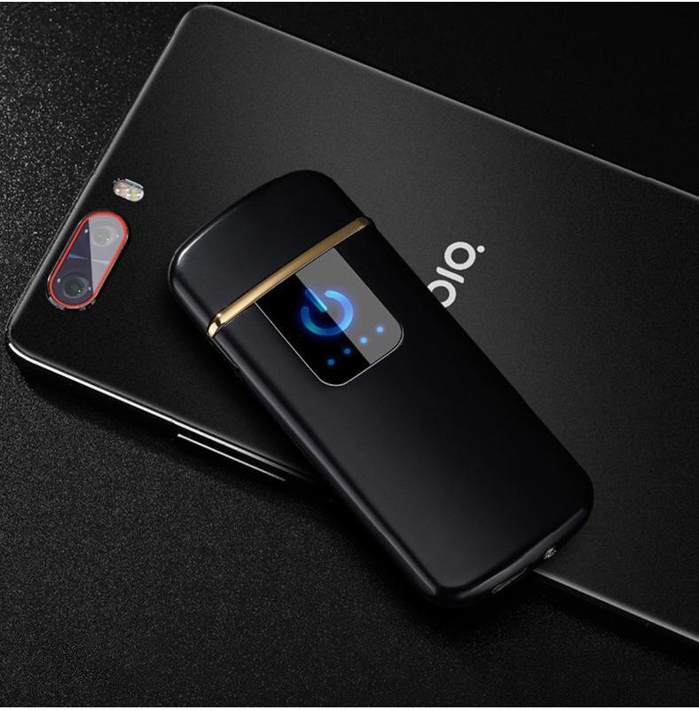Wolfram Turbo USB Leichter Touch-senstive Schalter Leichter Zigaretten Für Rauchen Ciga Elektronische Leichter Gravieren name