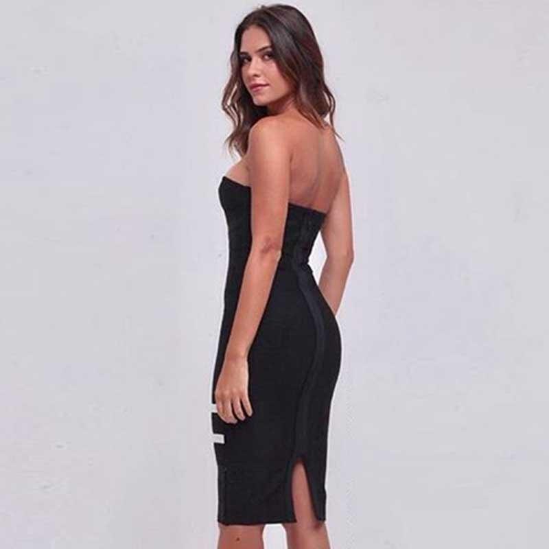 0383eb468 Las Cuello Barra Sin Mini De Tirantes Otoño Sexy Indressme Vestido Fiesta  Respaldo Vendaje Mujeres Nuevo 2018 Dress Vestidos Black Mujer Elegante  rdBxeCo