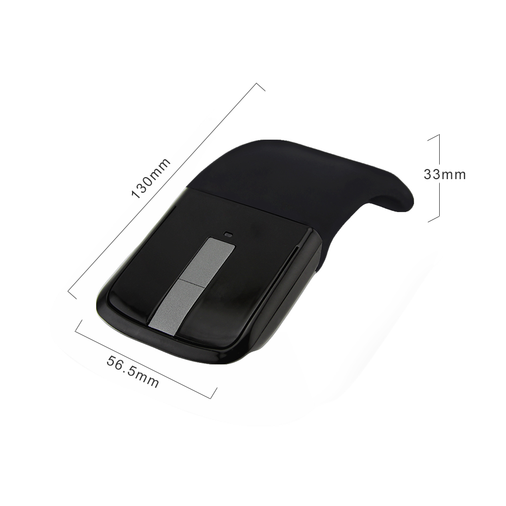 CHUYI Bluetooth Wireless Arc Touch Mouse 1200DPI Optical Folding Slim Notebook Mause Ultra Thin Computer Mice For Microsoft PC