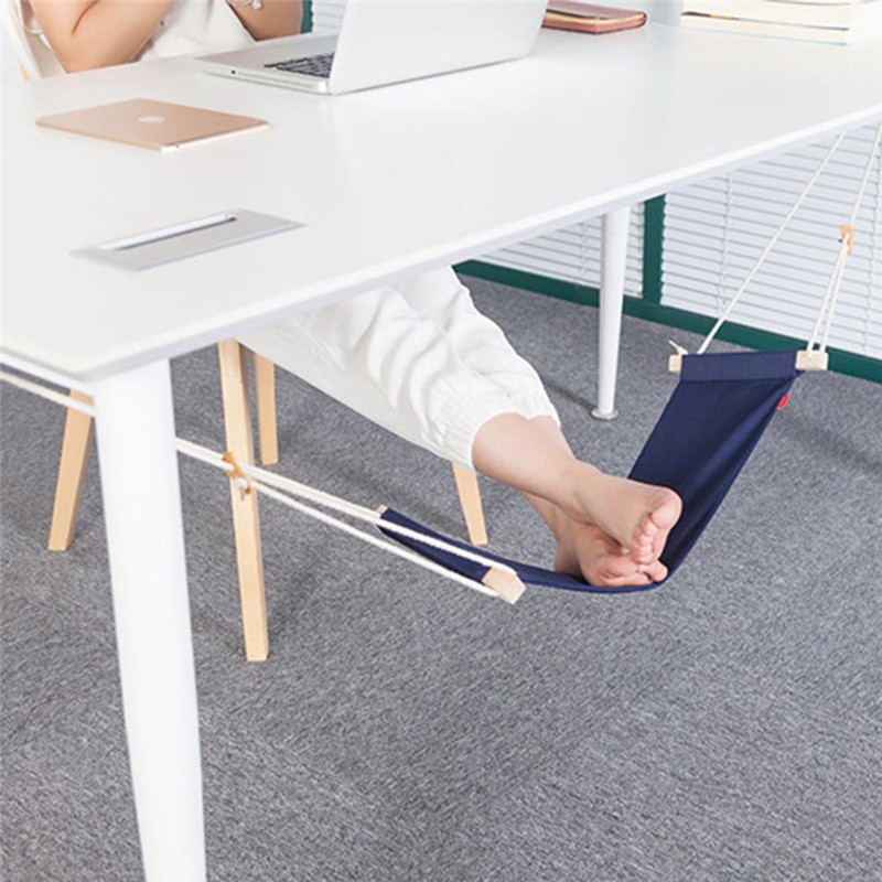 New Creative foot hammock Business lazy foot pad 3Color Mini Office Foot Rest Stand Desk Hot Selling Feet Hammock Drop Shipping