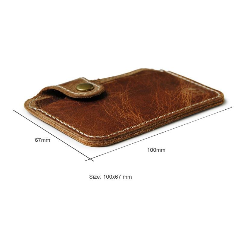 Äkta Läder Card Holder Porte Carte Men Card Id Holders Bankkortet - Plånböcker - Foto 6