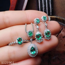 KJJEAXCMY exquisite jewelry  925 sterling silver inlaid natural emerald lady Ring Pendant Earring Set support detection kjjeaxcmy exquisite jewelry 925 sterling silver inlaid natural jasper pendant ring necklace earring and ear nail set support