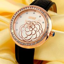 New Rose watch women black Leather water resistant lady jewelry crystal Watches quartz wristwatches new rose watch women black leather water resistant lady jewelry crystal watches quartz wristwatches