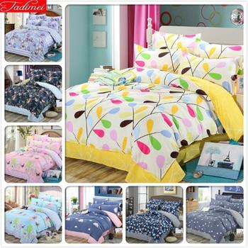 Soft Comfortable Cotton 3/4 pcs Bedding Set Adult Kids Child Bed Linen Single Twin Full Double Queen King Size Duvet Cover Quilt