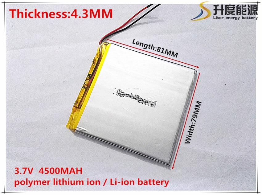 1 pcs/lot 437981 3.7 V 4500 mah Lithium polymère batterie avec panneau de Protection pour PDA tablette PCs produits numériques