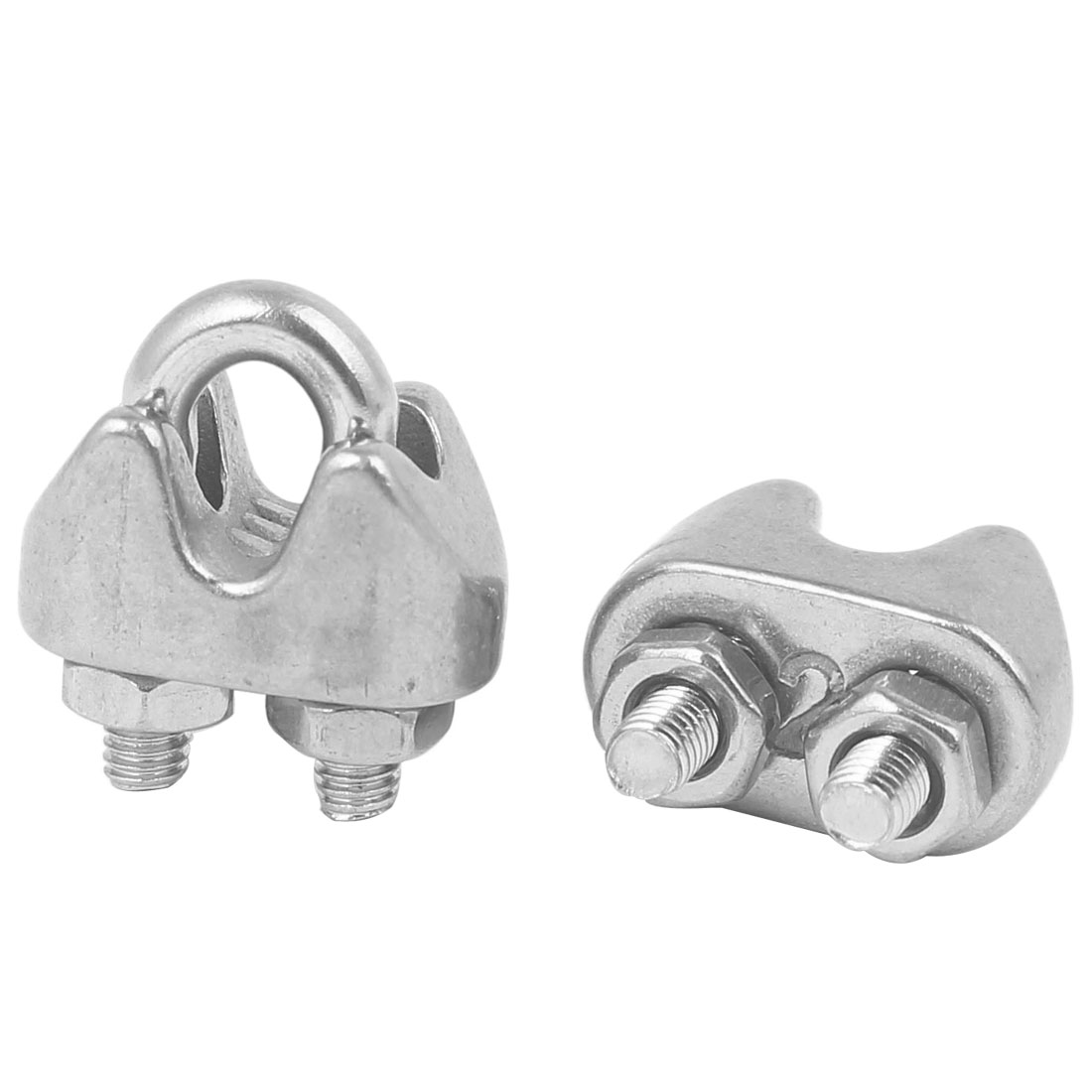 hight resolution of uxcell 2pcs m2 3mm 0 12 u shape bolt saddle clamp 304 stainless steel cable