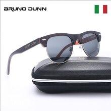 Bruno Dunn Sunglasses Wood Polarized women Men Wooden sun Glases ray oculos de s