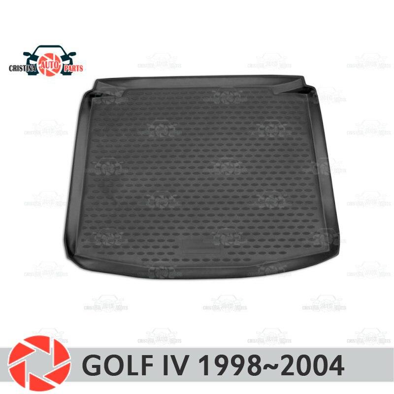 цена на Trunk mat for Volkswagen Golf 4 1998~2004 trunk floor rugs non slip polyurethane dirt protection interior trunk car styling