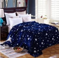Urijk 4 Sizes Bedspread Blanket High Density Super Soft Flannel Blanket To On For The Sofa