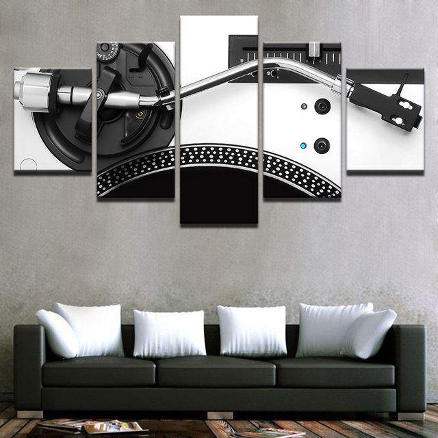 Canvas Hd Printed 5 Panels Music Dj Console Instrument Mixer Posters Modern Home Wall Art Decorative Painting Modular Pictures