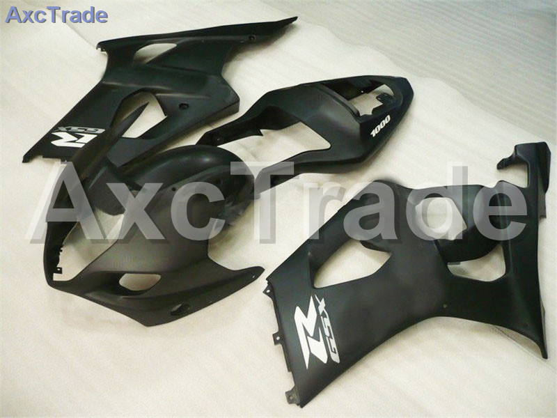 Motorcycle Fairings For Suzuki GSXR GSX-R 1000 GSXR1000 K3 2003 2004 03 04 ABS Plastic Injection Fairing Bodywork Kit Black A283 hot sales sv650 03 04 05 06 07 08 09 10 11 12 13 fairings for suzuki sv650 2003 2013 sv650s black abs motorcycle fairing set