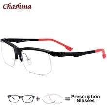 Sport Myopia Ready Glasses Men Anti Blue Light Eyeglasses Prescription Half Frame Style TR90 Multifocal Lenses