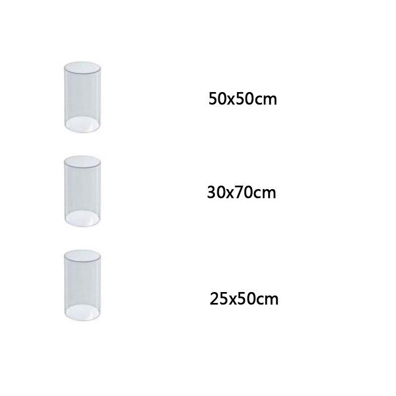 3 pièces acrylique socle rond or rose blanc clair cylindre affichage colonne montante