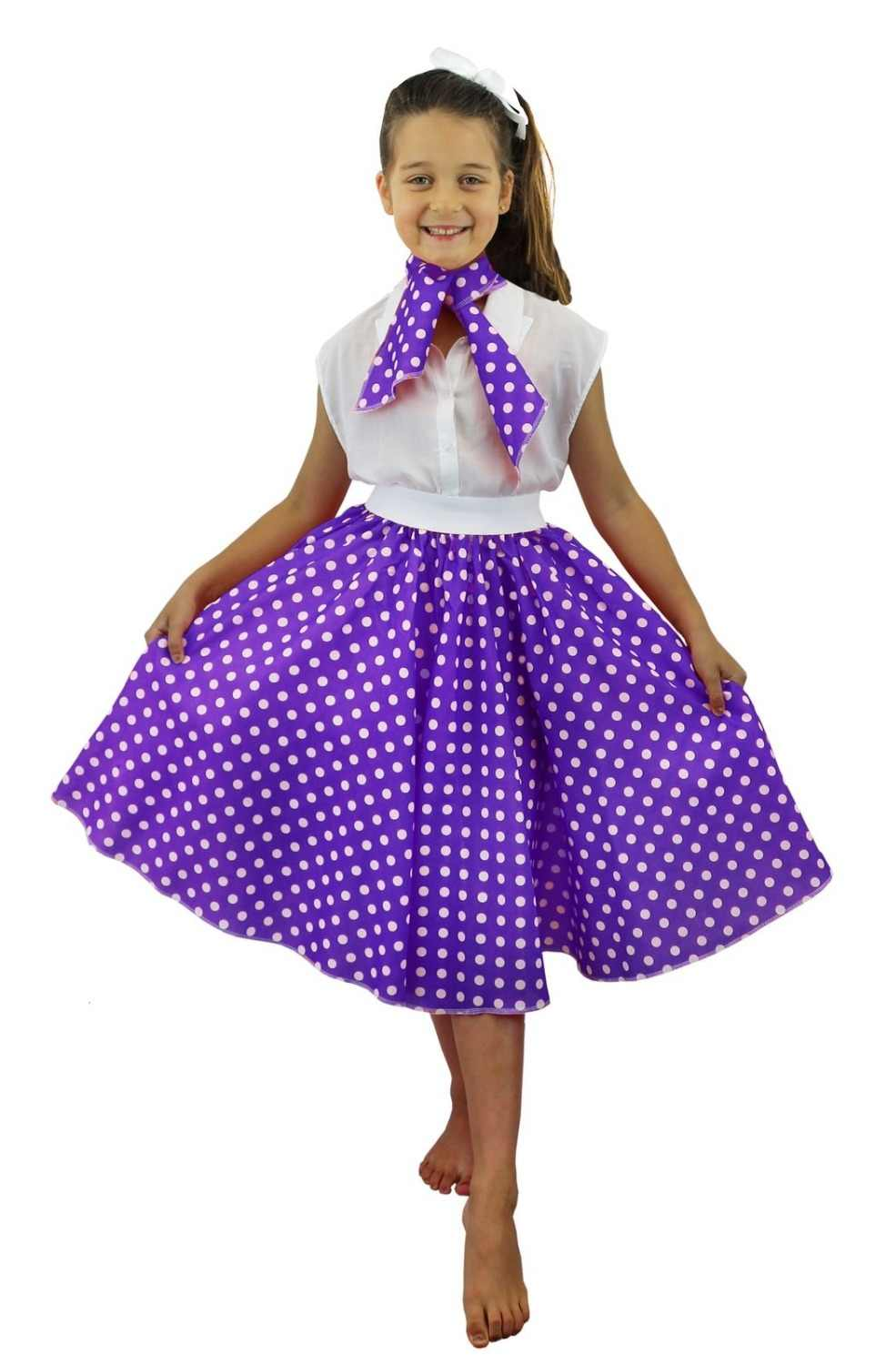 """POLKA DOT SKIRTS 26/"""" LONG ROCK /& ROLL AND FANCY DRESS PARTIES."""