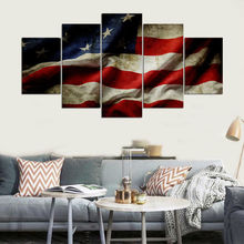 Artwork Canvas Poster Home Decorative Framework Top-Rated Print Pictures 5 Pieces International Flag Paintings Wall Art