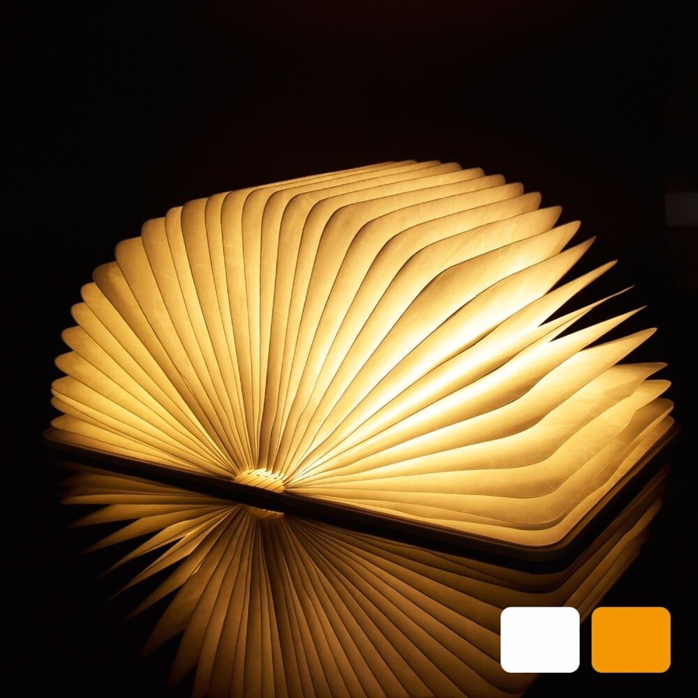 LED Night Light Folding Book Light USB Port Rechargeable Wooden Magnet Cover Home Table Desk Ceiling Decor Lamp Cafe Mood Lights three usb rechargeable led foldable wooden book shape desk lamp book night light for home decor warm white light drop shipping