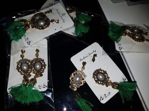 Bohemian Silk Fabric Tassel Earrings photo review
