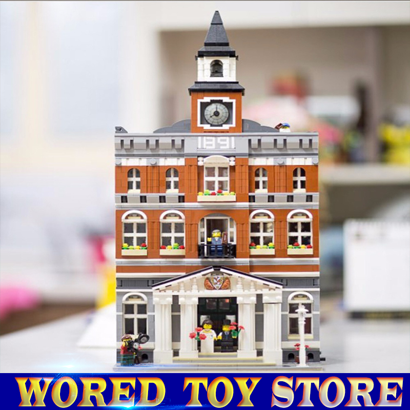 New 2859Pcs 2016 LEPIN 15003 Kid's Toys The town hall Model Building Kits Building Blocks Compatible legoed Bricks as Gift lepin 15003 new 2859pcs creators the town hall model building kits blocks kid toy compatible brick christmas gift