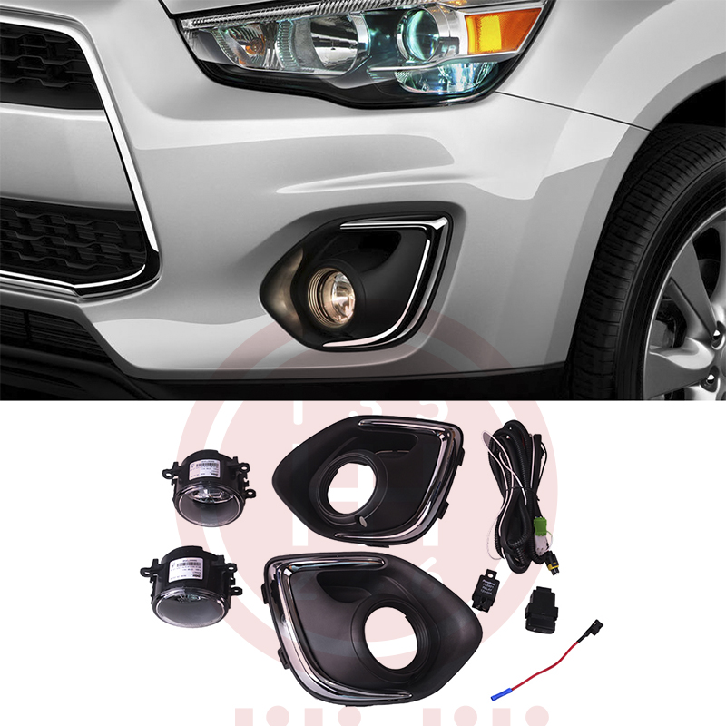 Fog Light Lamps Kit for Mitsubishi Outlander Sport ASX 2013 2014 2015 france home little boys kit 2014 2015