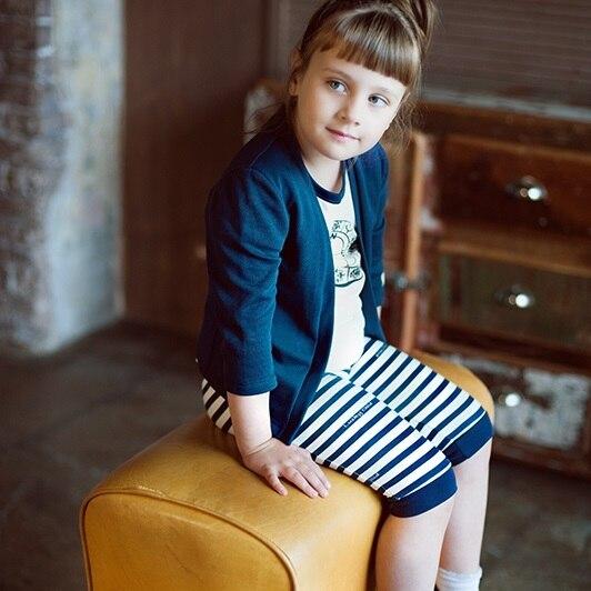 Штанишки укороченные Lucky Child для девочек, арт. 28-11.1D (Лазурный берег) [сделано в России, доставка от 2-х дней]