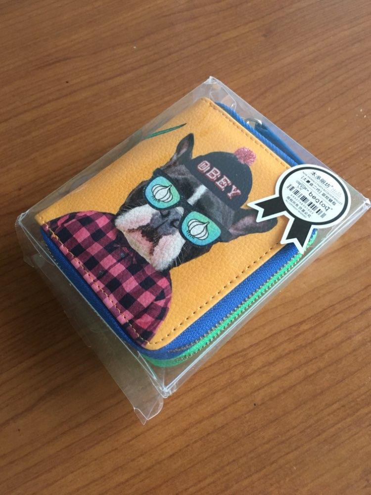 Bulldog White Black Rabbit Teddy Pattern Printed Funny Interesting Mini Wallets Double-deck Women Girls Short Purses Young Lady photo review
